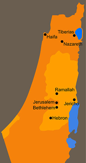 Holy Land Trust Fact Finding Tour Map